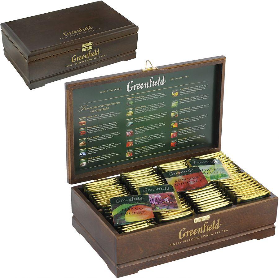 Купить коробку чая гринфилд